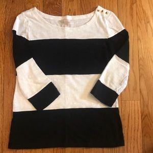 Banana Republic 3/4 sleeve striped shirt